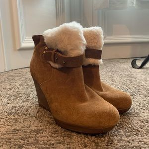Ugg Shearling wedge bootie